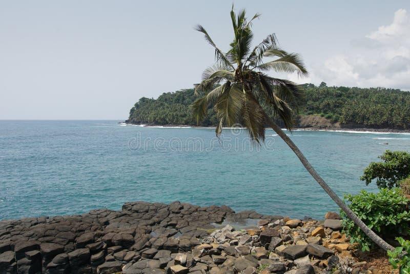 Boca de Inferno São Tomé och Príncipe arkivbilder