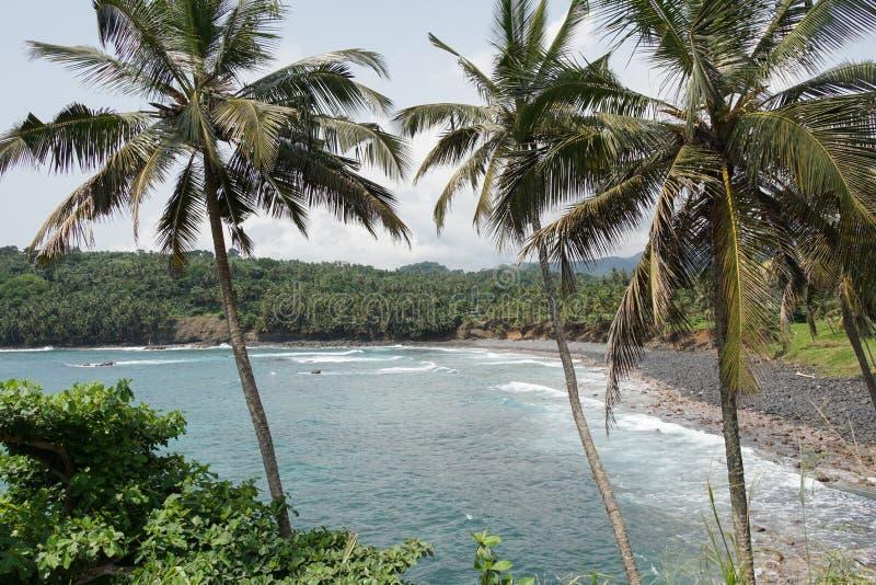 Boca de Inferno São Tomé och Príncipe arkivfoto