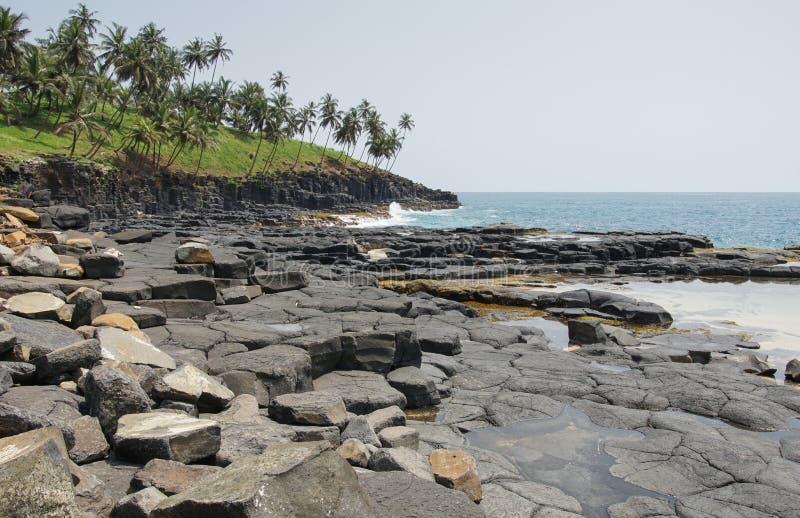 Boca de Inferno São Tomé och Príncipe arkivfoton