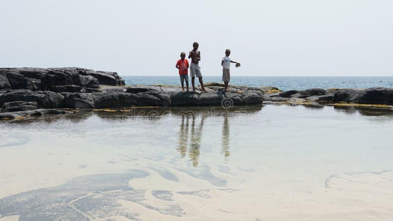 Boca de Inferno São Tomé och Príncipe royaltyfri bild
