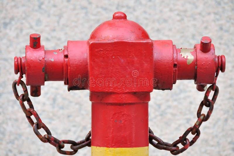 Boca de riego roja foto de archivo libre de regalías