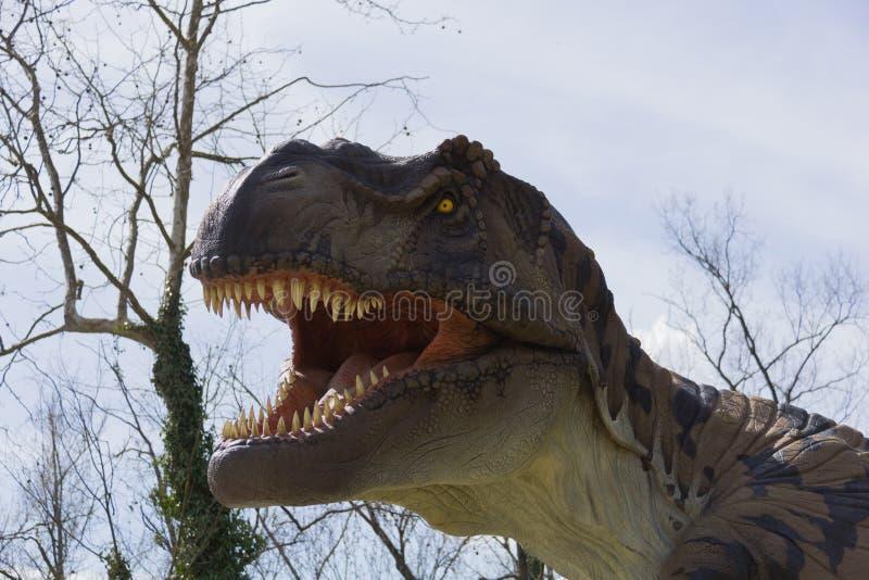 Boca de um T-Rex fotografia de stock