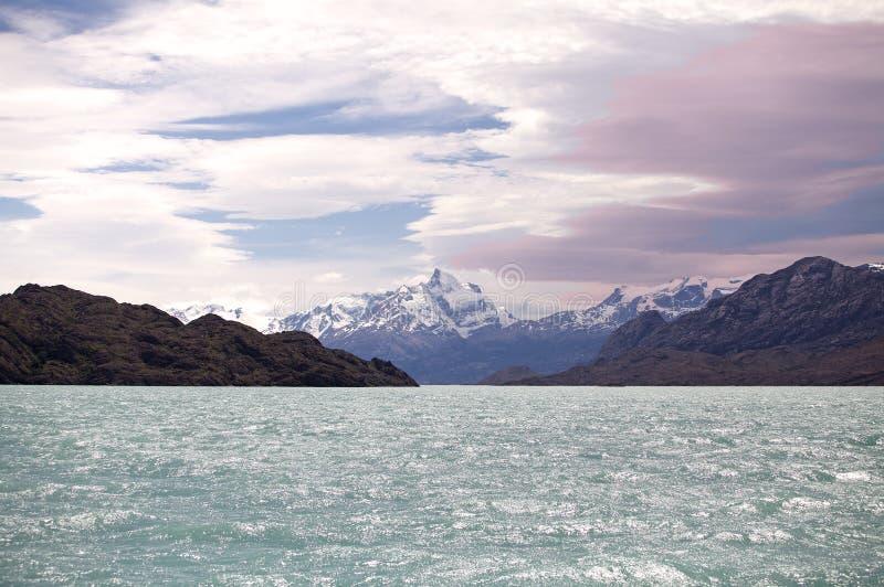 Boca del Diablo em Argentino Lake, Argentina fotografia de stock royalty free