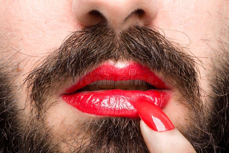 Boca del ` s del transexual fotos de archivo libres de regalías