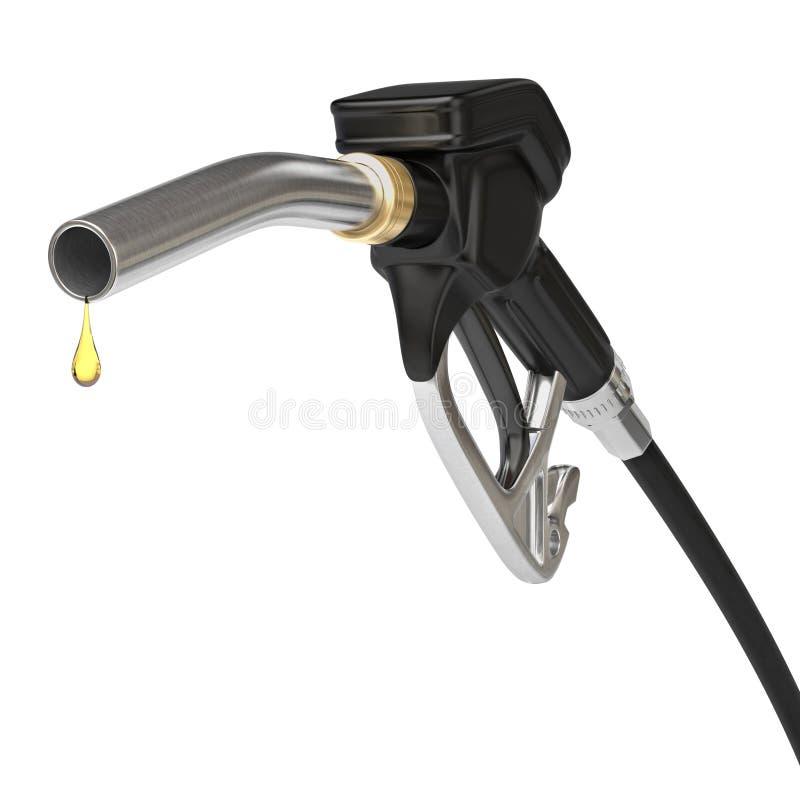 Boca del surtidor de gasolina stock de ilustración