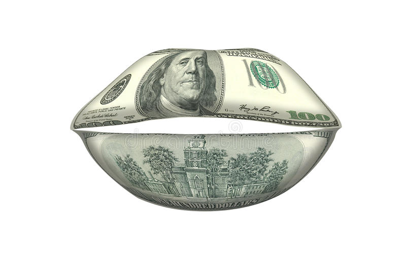 Boca do dinheiro, conceito de negociações do dinheiro fotografia de stock royalty free