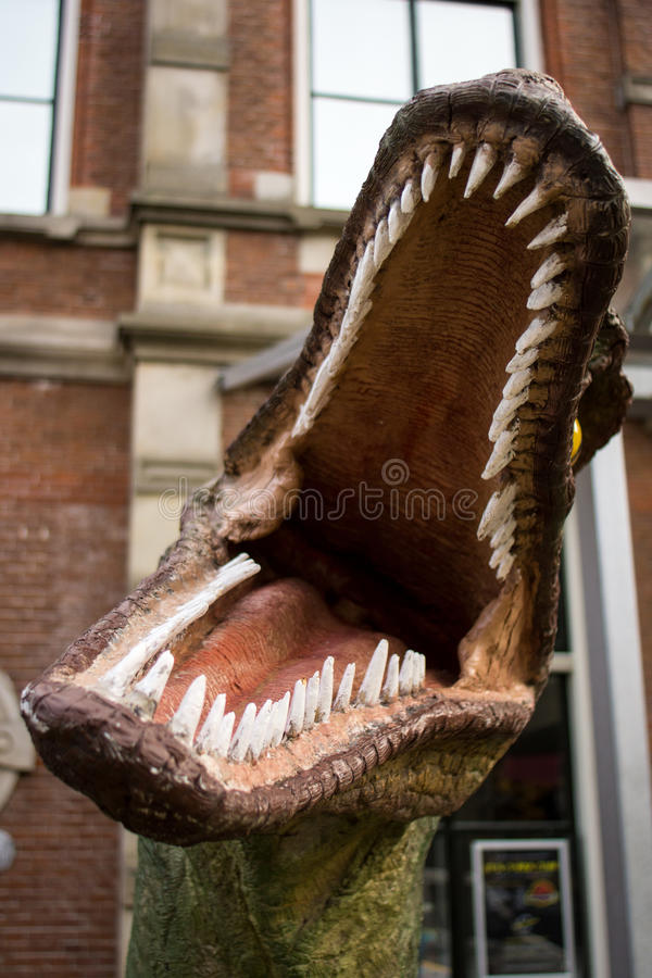 Boca do dinossauro fotografia de stock