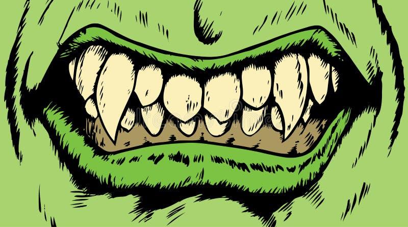 Boca do monstro ilustração royalty free