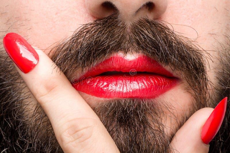 Boca do ` s do Transgender imagem de stock