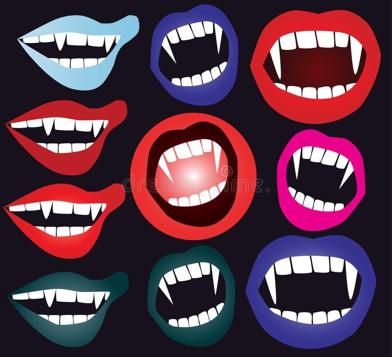 Boca do vampiro ilustração stock