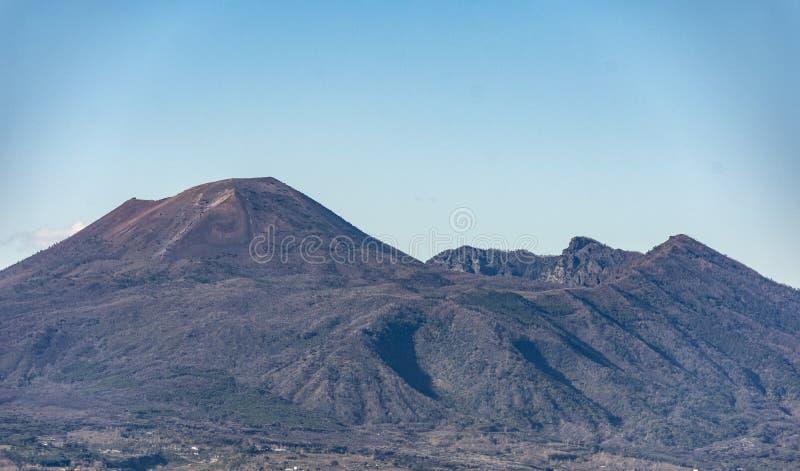 Boca do vulcão Vesúvio Itália imagens de stock royalty free