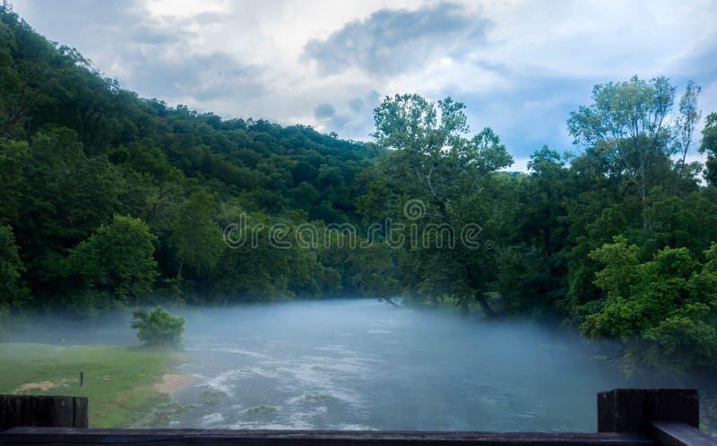A boca enevoada da névoa das molas grandes ramifica em Missouri imagem de stock