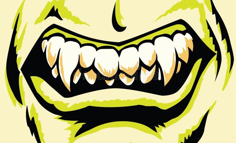 Boca estilizada del monstruo libre illustration