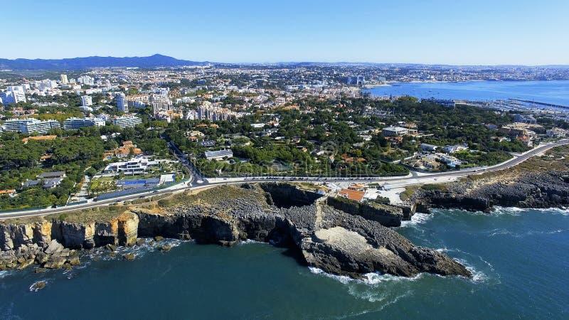 Boca font l'enfer, Cascais, Portugal photo stock