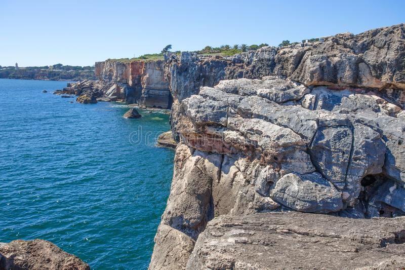 Boca gör inferno i Cascais, Portugal, Europa royaltyfria bilder