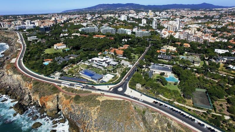 Boca hace el infierno, Cascais, Portugal foto de archivo