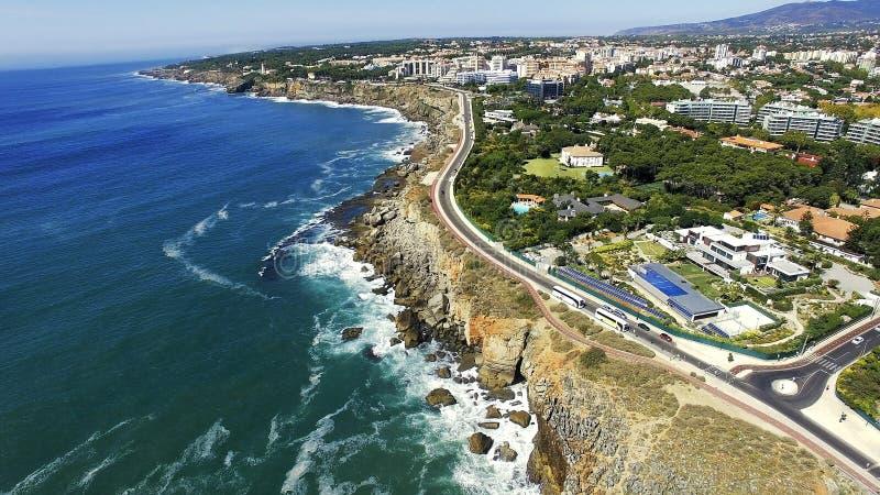 Boca hace el infierno, Cascais, Portugal imagen de archivo