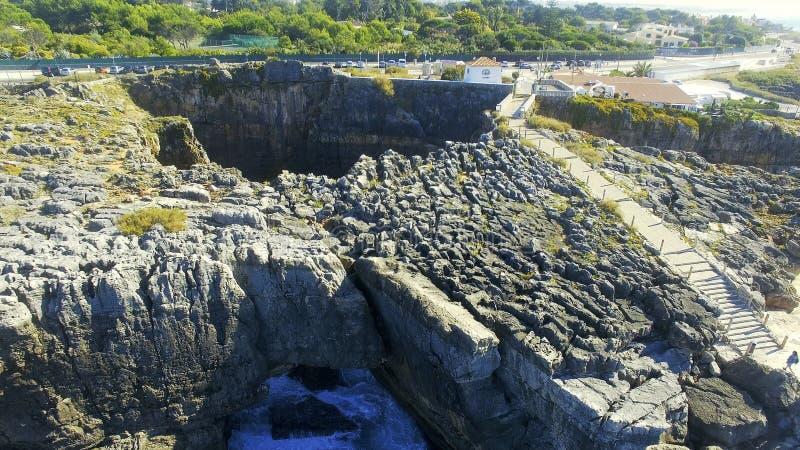 Boca hace el infierno, Cascais, Portugal fotografía de archivo libre de regalías