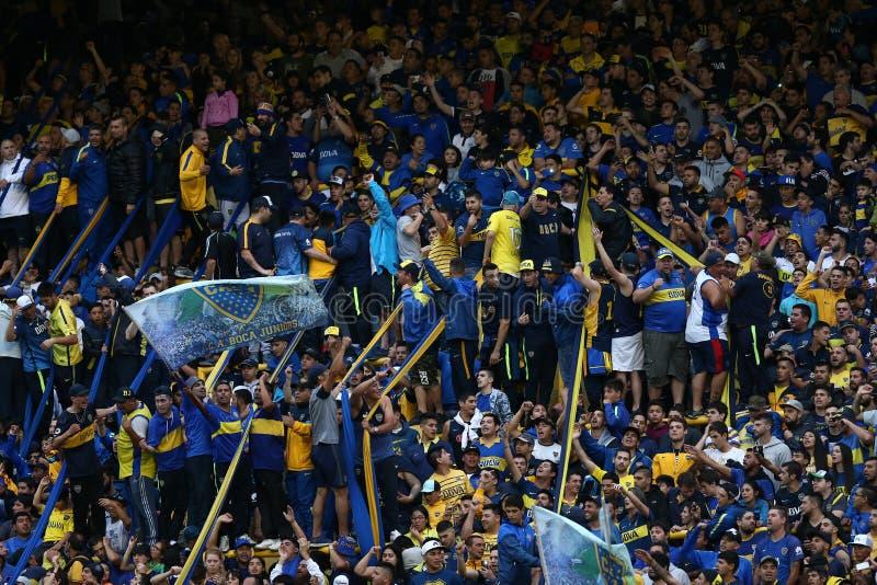 Boca Junior-Fans stockfotografie