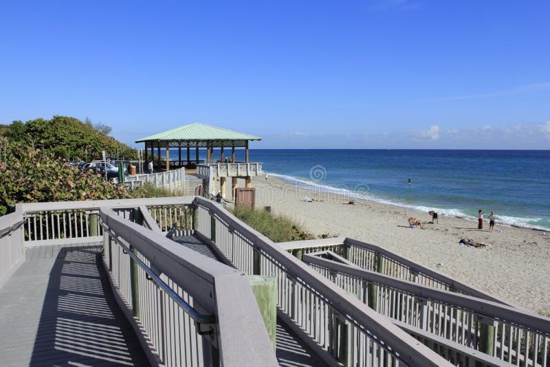 Boca Raton Beach Pavilion Walkway stock photos