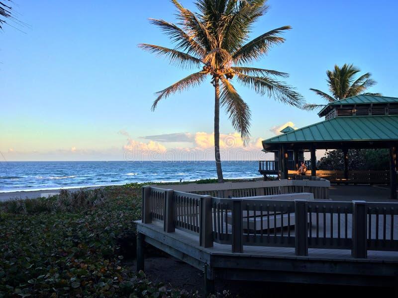 Boca Raton at sunset royalty free stock photos