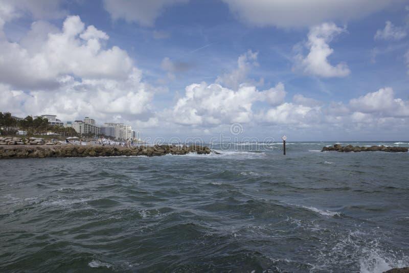 Boca Raton wpust prowadzi Atlantycki ocean zdjęcia royalty free