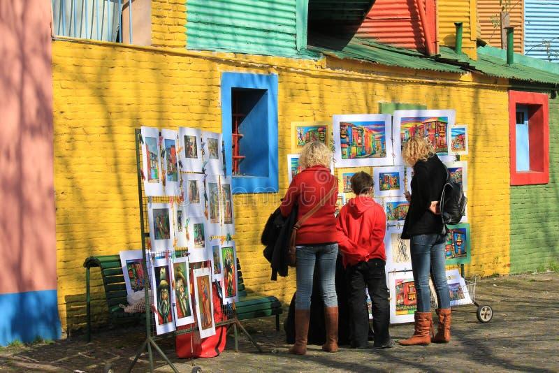 Boca van La in Buenos aires stock fotografie