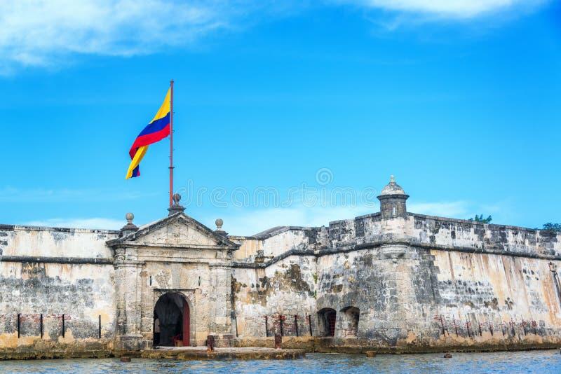 Bocachica堡垒 免版税库存图片
