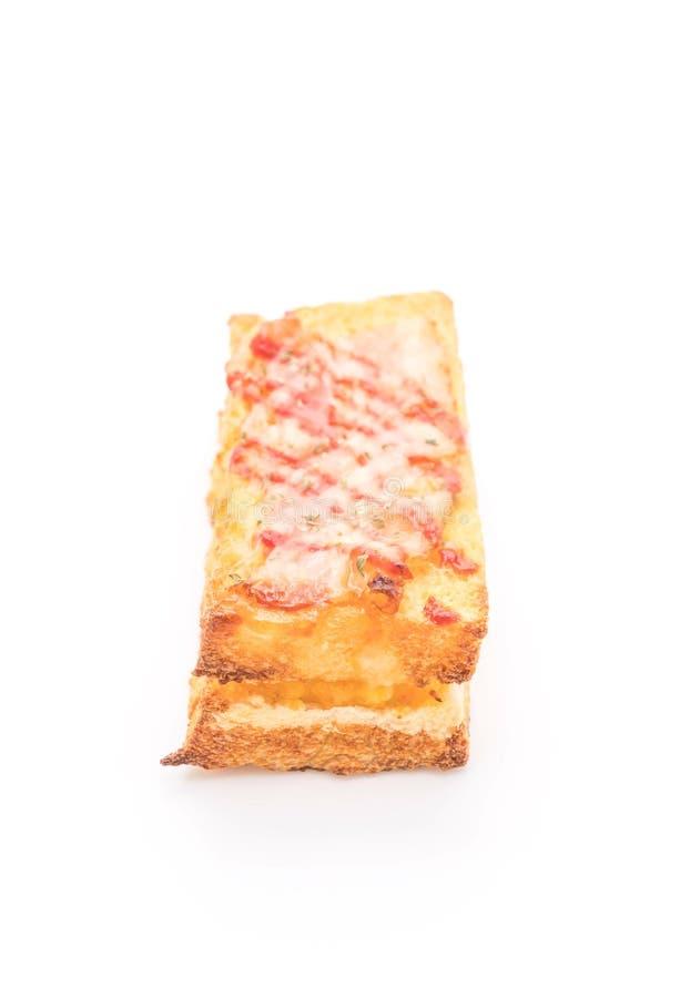 bocadillo del huevo de la American National Standard del tocino del monsieur del croque con la salsa fotos de archivo