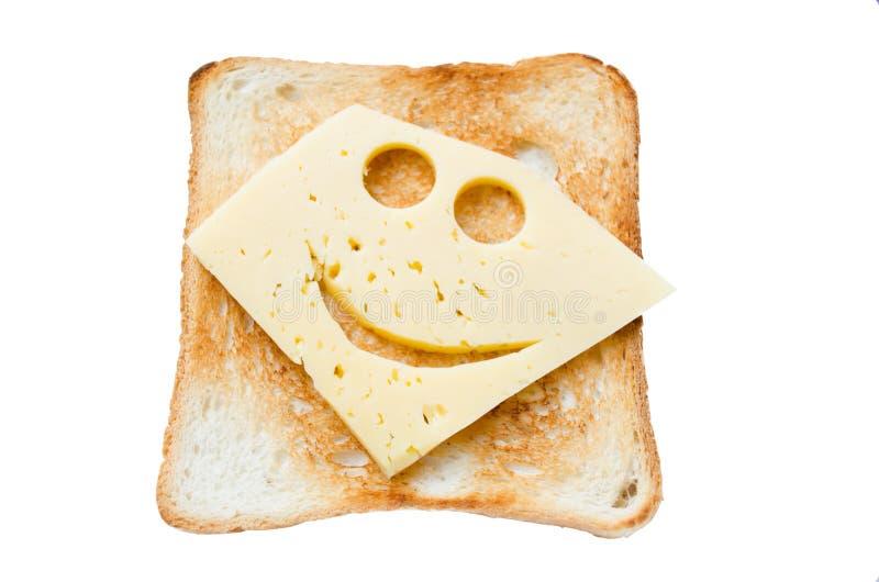 Bocadillo hecho en casa tradicional con un queso sonriente foto de archivo libre de regalías