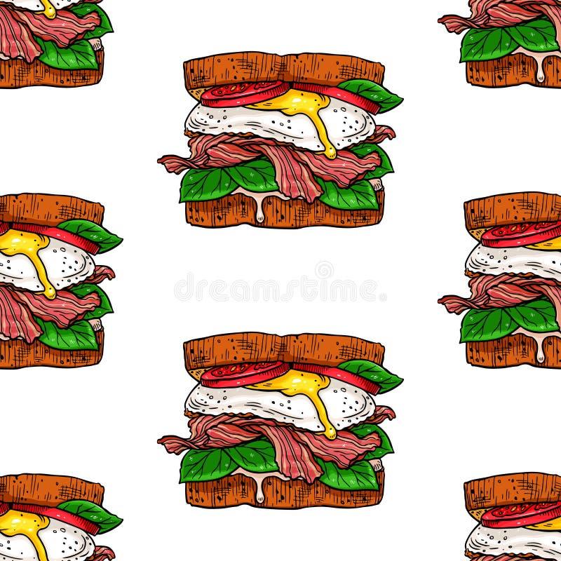 Bocadillos apetitosos incons?tiles ilustración del vector