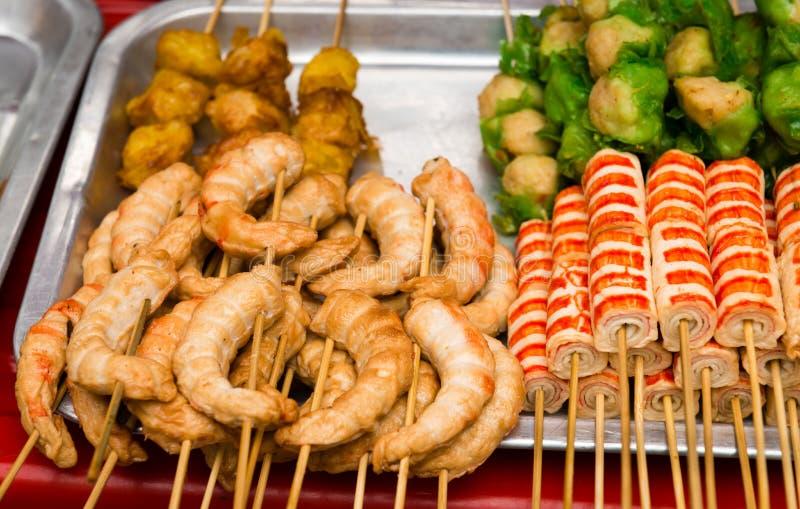 Bocado asiático con la carne de cangrejo imagenes de archivo