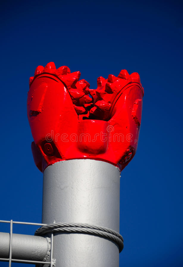 Bocado de broca vermelho fotos de stock