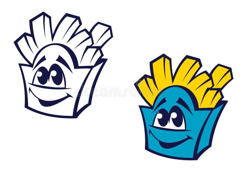 Bocado de la patata de los alimentos de preparación rápida libre illustration