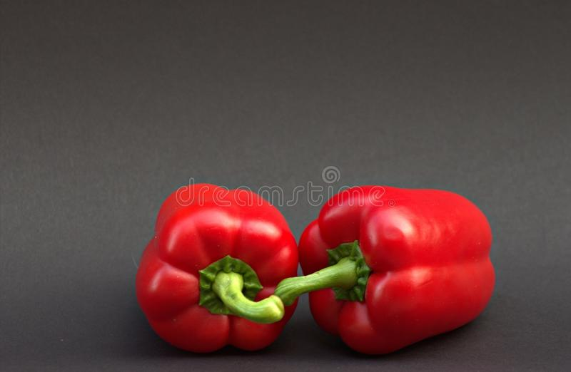 Bocado dulce rojo de la paprika de las verduras imagen de archivo