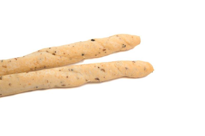Bocado italiano de las barras de pan aislado fotografía de archivo