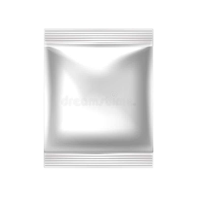 Bocado realista de la comida del vector que empaqueta con la cremallera stock de ilustración