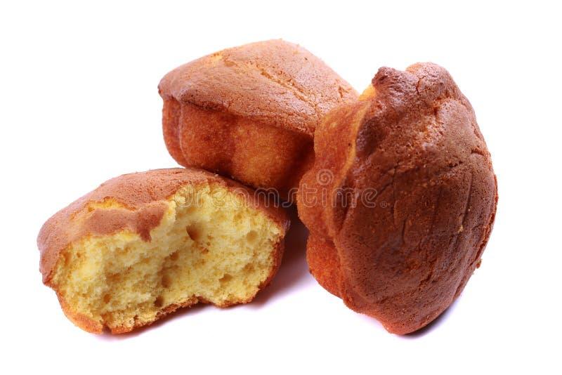 Bocados de la torta y del pan imágenes de archivo libres de regalías