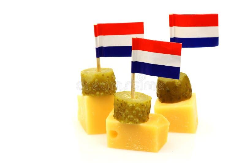 Bocados del queso de Holanda fotos de archivo