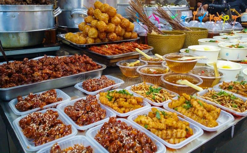 Bocados deliciosos en Chengdu, China fotografía de archivo