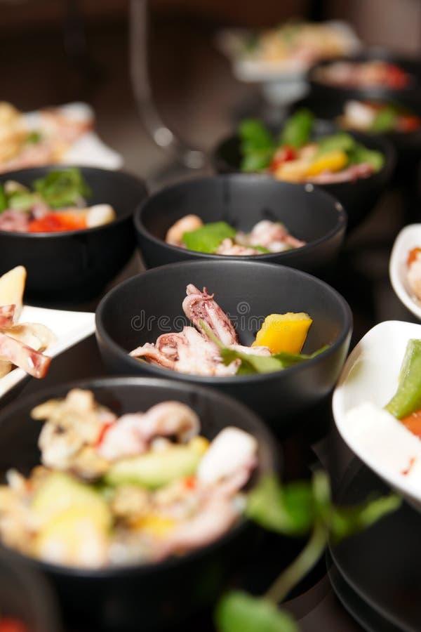 Bocados En El Vector De Banquete Imagen de archivo