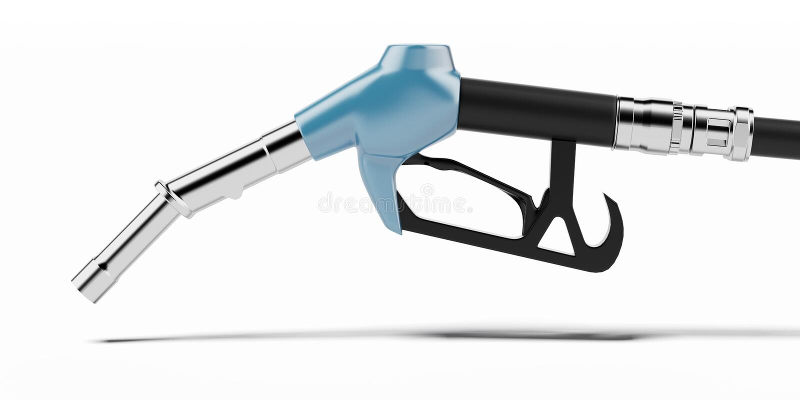 Bocal da bomba de combustível de Bluef ilustração stock