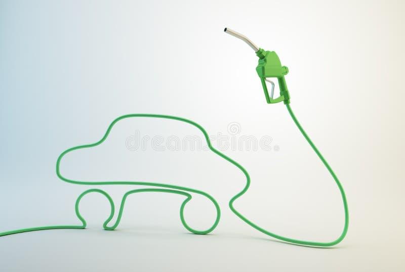 Bocal da bomba de combustível do carro ilustração stock