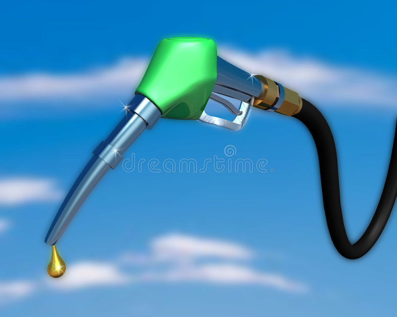 Bocal da bomba de gás ilustração stock
