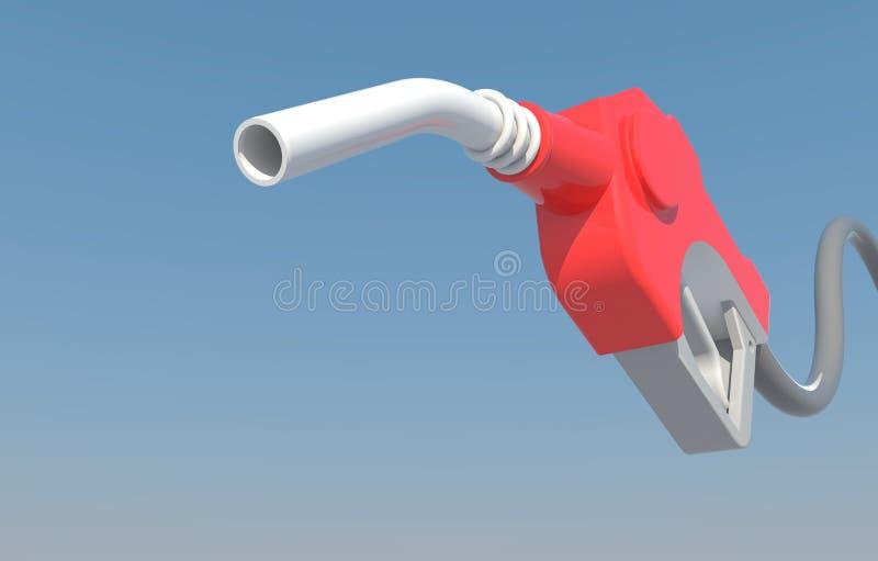 Bocal da bomba de gás do gotejamento ilustração stock
