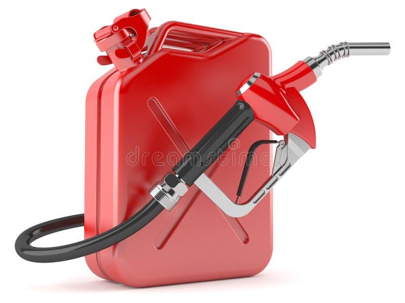 Bocal da gasolina com cartucho ilustração do vetor