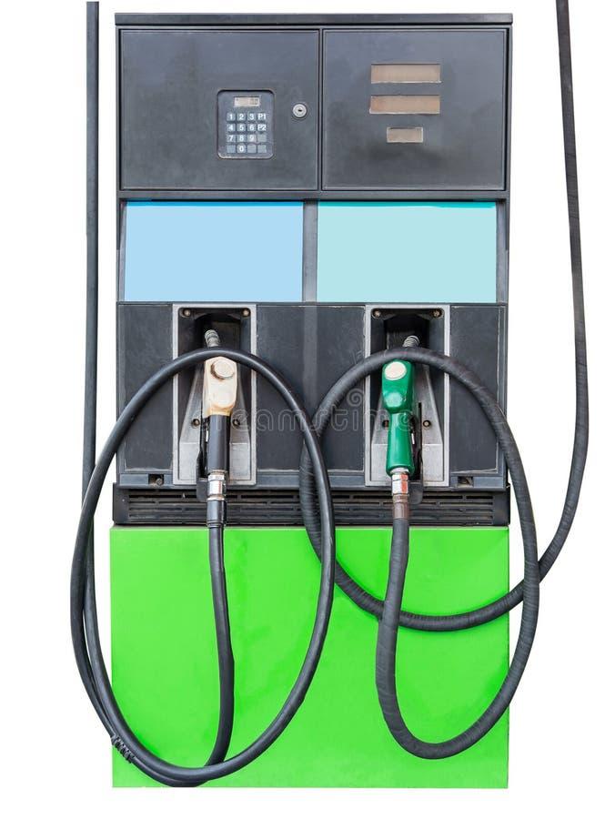 Bocal de combustível para adicionar o combustível no carro no posto de gasolina Isolado no branco imagem de stock royalty free