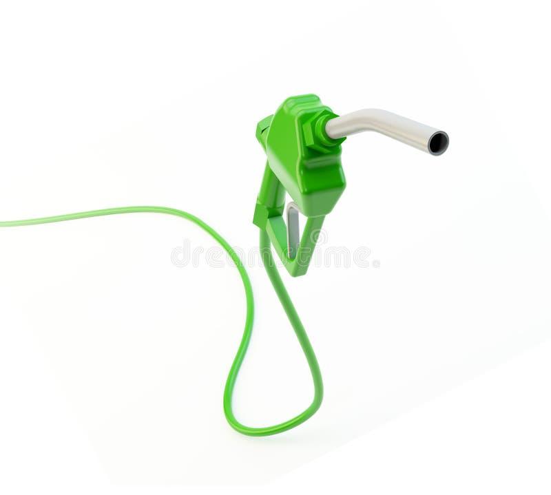 Bocal de combustível verde ilustração royalty free
