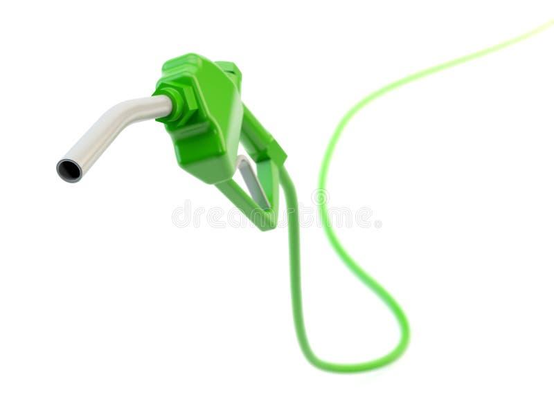 Bocal de combustível verde ilustração stock