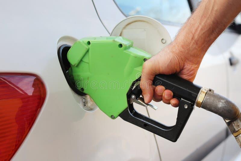 Bocal de gás do petróleo fotografia de stock